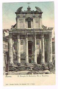 Vintage Postcard Italy 1900 ca. ROMA ROME TEMPIO ANTONINO ...