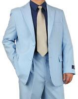 Promotion Sharp 2pc Men 2b. Dress Suit Blue 36s-48l Tb03 $220