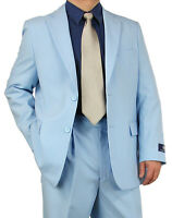 Promotion Sharp 2pc Men 2b. Dress Suit Blue 36s-48l Tb03 $220