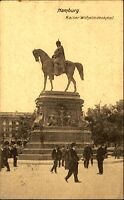 HAMBURG AK nach Bramstedt gelaufene Postkarte 1909 Kaiser Wilhelm Denkmal