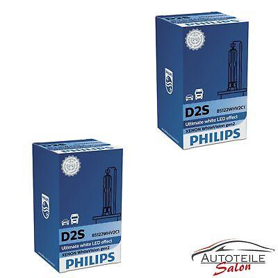 2x Original Philips D2S Whitevision GEN2 85122WHV2 C1 Xenon DUO SET Brenner