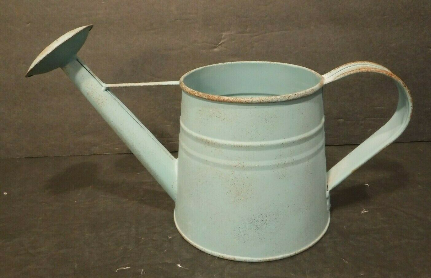 Metal BlueGreen Watering Can In/Outside One Handle Loop 1/4 Gallon Flowers Plant