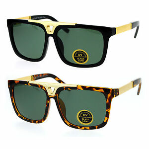 50655ceac2 Image is loading SA106-Mens-Tempered-Glass-Lens-Mobster-Mafia-Flat-