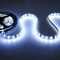 5m 500cm 5050 Cool White SMD 300LED Waterproof Flexible Light Strip Lamp DC 12V