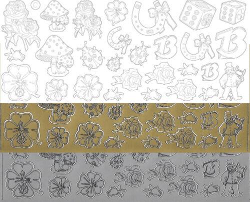 Starform Outline Stickers N° 101 Symboles Chance Auto-collants Peel offs