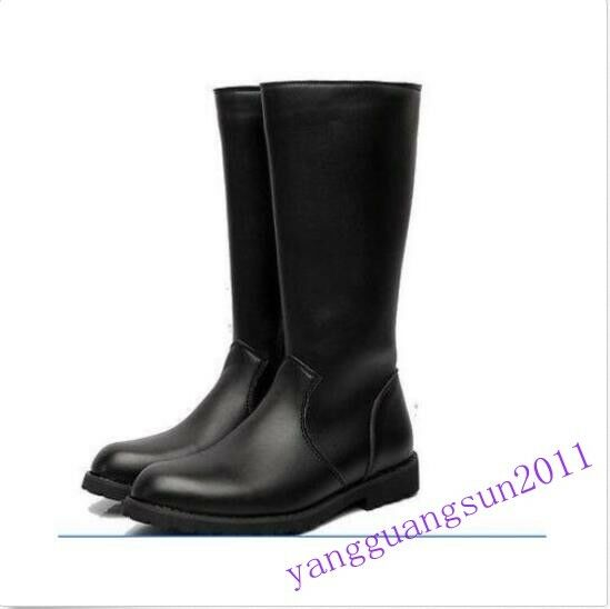 80% Stylish Uomo Uomo Uomo Worker Military Knee High Riding Stivali Pu Pelle Shoes Casual 59a0a1