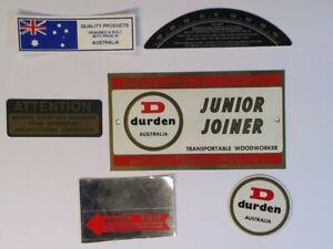 COMPLETE-SET-OF-DECALS-FOR-A-DURDEN-JJ8-450-JUNIOR-JOINER-TRANSPORTABLE