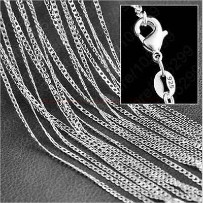 "1/5x Wholesale lots 925 Sterling Silver 2MM Rolo Curb Chain Necklace 16""-30"" TB"