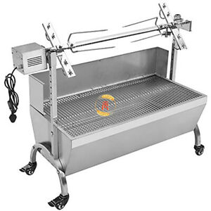 118cm-176LBS-Pig-Spit-Roaster-Goat-Chicken-Spit-Rotisserie-BBQ-Grill-wWindshield