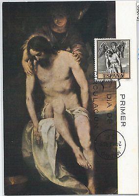 59076 - Spain - Postal History: Maximum Card 1969 - Art Religion