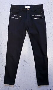 VALLEY-GIRL-Casual-Cotton-Straight-Pants-Black-Size-12-Buy7-FreePost-L528