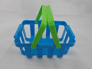 Fisher-Price-Blue-Picnic-Basket-Toy-1988-7-034-Long