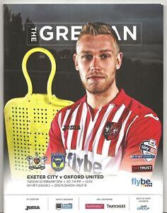 various Exeter City home programmes 2013//14 season