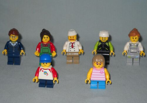7 NEW LEGO MINIFIGURES, MINIFIGS FROM SET 60134,FUN IN THE PARK