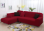 2PC-L-Shape-Stretch-Elastic-Fabric-Sofa-Cover-Slipcovers-Corner-Couch-Covers-set thumbnail 7