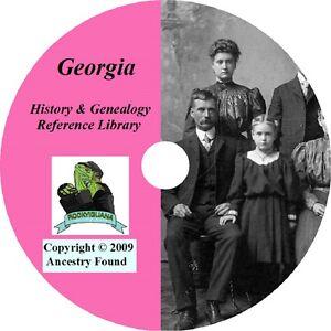 GEORGIA-History-amp-Genealogy-96-old-Books-on-DVD-Ancestors-County-CD-GA