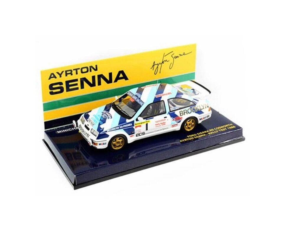 Minichamps 540 864399 Ford Sierra RS Cosworth Auto da Rally un test di Senna 1986 1:43rd