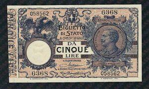 5-lire-Vittorio-Emanuele-III-1925-FDS-UNC-Periziato-R2