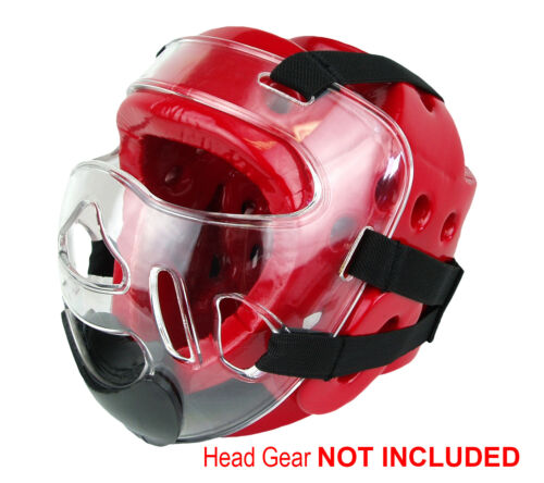 X5 NEW Martial Arts Clear Mask Face Shield for Sparring Head Gear