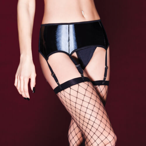 18 UK18 16 Coquette Darque PVC Suspender belt 1X//2X UK16 size