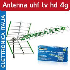 ANTENNA DIGITALE TERRESTRE UHF HD CON FILTRO LTE 4G ALTO GUADAGNO