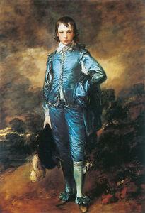 Blue Boy by Thomas Gainsborough Giclee Canvas Print Repro