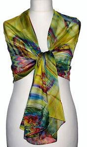 factory price e07e0 dcbb6 Dettagli su Schick Sciarpa Fluard Scialle Elegante da Uomo ,Donna  Coprispalle Stola Giallo
