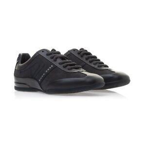 4fd9fc97ce1 Hugo Boss Men s Sport Leather Sneakers Shoes Space Select Dark Blue ...