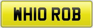 PERSONALISED-WHO-ROBERT-CAR-REG-NUMBER-PLATE-WH10-ROB-NO-HIDDEN-FEES-ROBIN-BOB