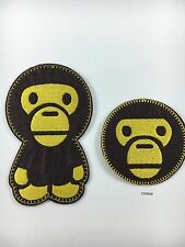 Bathing Ape Baby Milo Monkey 2PC Set- Iron on Embroidered Patch USA SELLER!!