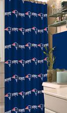 Item 8 NFL New England Patriots Fabric Shower Curtain 72 Football Fan Bath Decor Gift