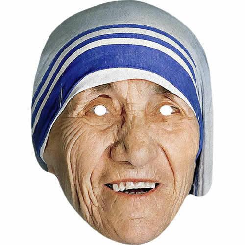 Pre-Cut Mother Teresa Roman Catholic Celebrity Card Mask