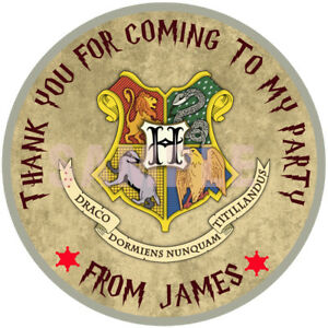 30-x-Personalised-Harry-Potter-50mm-2-034-party-Stickers-Party-Thank-You-Seals