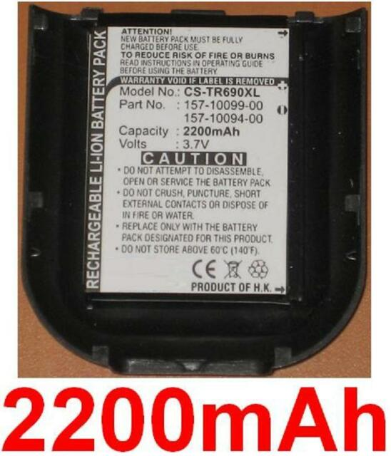 Case + battery 2200mah type 157-10094-00 157-10099-00 for palm treo 500p, 550