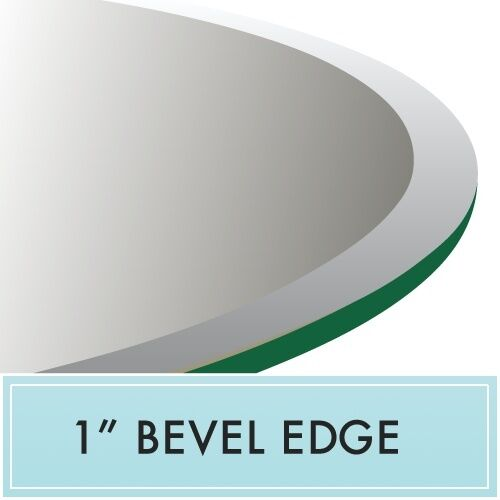 72 Inch Round Clear Tempered Glass Table Top 3 4 Thick Bevel Edge For Sale Online Ebay