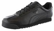fc1135d3 Mens PUMA Roma Basic Retro Solid All Black Classic 35357217 SNEAKERS Shoes  11