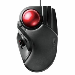 ELECOM Trackball Mouse Wired 8 Button Big Ball M Ht1urbk From Japan