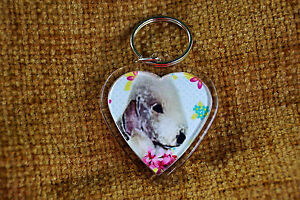 Bedlington-Terrier-Keyring-Dog-Key-Ring-heart-Birthday-Gift-Mothers-Day-Gift