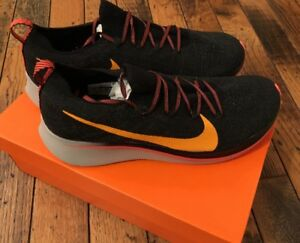 67b6c63d36e4c6 New Nike Zoom Fly FK Flyknit Running Shoes Mens Size 11 Black Orange ...