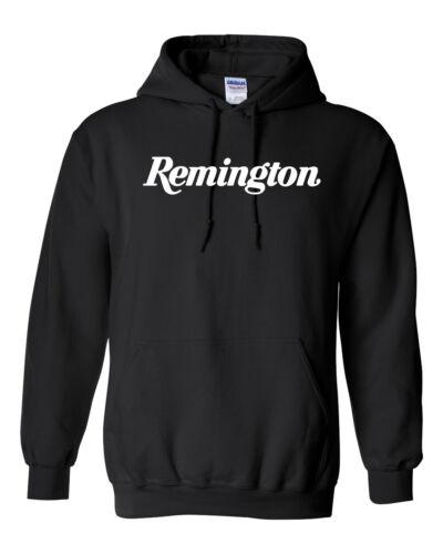 Remington Script White Logo Hoodie Sweatshirt Pro Gun 2nd Amendment Shotgun New