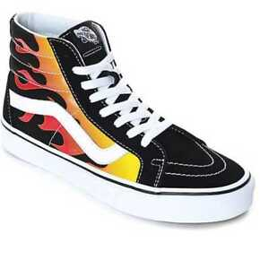 b1871e415e Details about NEW IN BOX MEN S 6 7 10.5 12 13 VANS SK8-HI REISSUE FLAME  BLACK SKATE SHOES