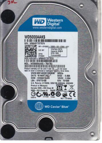 WD5000AAKS-75A7B2 Western Digital 500GB SATA 3.5 Bsectr HDD DCM HHNNHT2MH