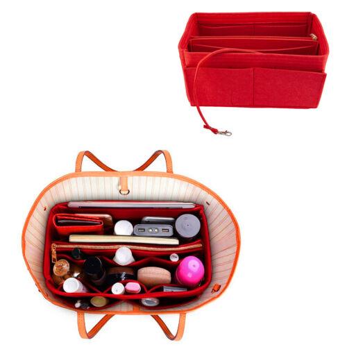 2 IN 1 Felt Insert Bag Multi Pocket Handbag Purse Organizer Fabric Liner Tote