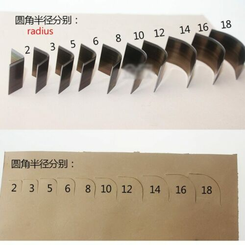 DIY Leather Craft Wallet Bag Corner Round Hand Punch tool 10pcs//lot set
