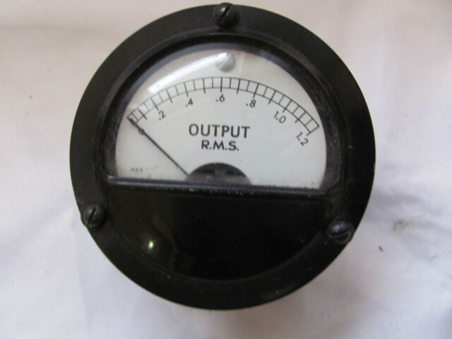 Marion Output RMS 0-1.2 Gauge Panel Meter