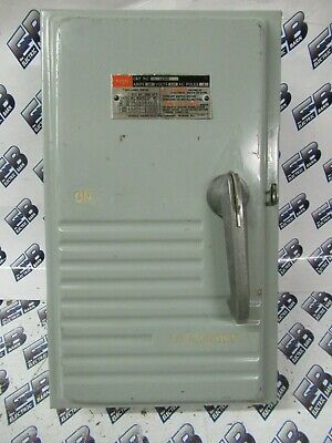 60 Amp 3 Pole,Door Operated Telemecanique D10S2 600 Volt Fusible Disconnect