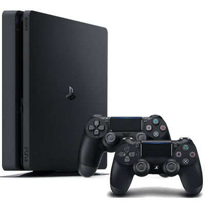 PlayStation 4 Slim 1TB Console + Extra Jet Black DualShock 4 Wireless Controller