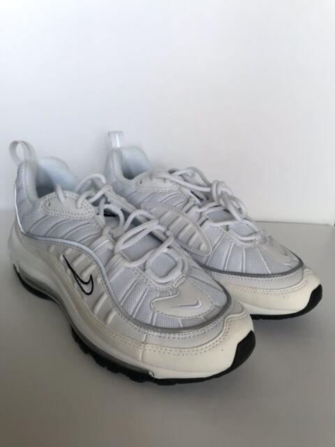 pretty nice dd9bd c9f62 Nike Air Max 98 Women s White Silver Sail Cream Size 8 AH6799 103
