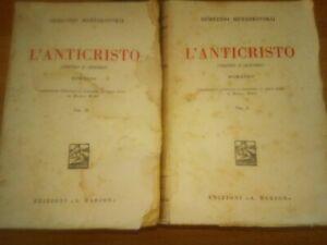 L-039-ANTICRISTO-D-Merezkovskij-Edizioni-Barion-1934-2-volumi