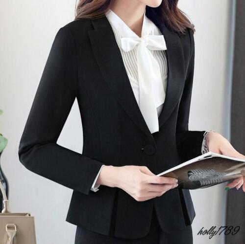 Vestito da Pant formale Blazers ufficio Button da gonne Suit Lady donna One 661TFxr